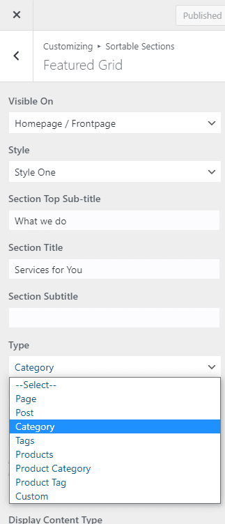 Section Types